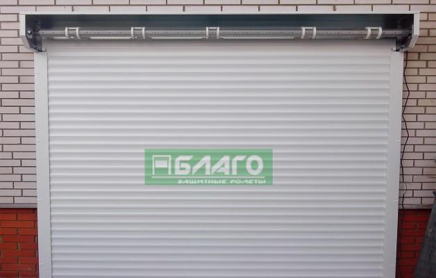 Изготовили и смонтировали автоматические ролетные ворота из профиля AG/77 в Ирпене.